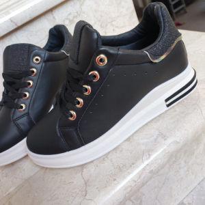 Sneakers μαύρα δίπατα - 39