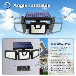 Αδιάβροχος Τριπλός Ηλιακός Προβολέας 70 LED Ανιχνευτή Κίνησης ΚΗΠΟ-ΕΞΟΧΙΚΟ