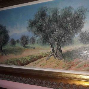 Ν. Καρράς η ελιές ζωγραφική