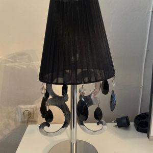 2 Επιτραπέζια φωτιστικά μαύρα  με κρυστάλλους για διακόσμηση μπουφέ
