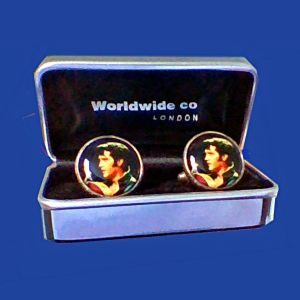 Αγγελιες Ελβις Πρισλεϊ Elvis Presley Αγγλικα μανικετοκουμπα Ελβις Πρισλεϊ Elvis Presley Λονδινο '80s ολοκαινουργια