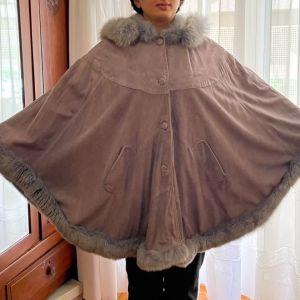Γυναικείο Παλτό Καστόρι με Γούνα. One Size.