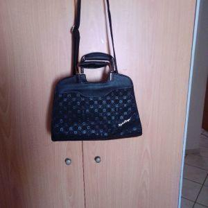 Τσάντα ώμου χειρός μαύρη