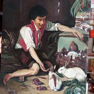 Ελαιογραφία Πίνακας Ζωγραφικής 100x75 - Μπόμπολης