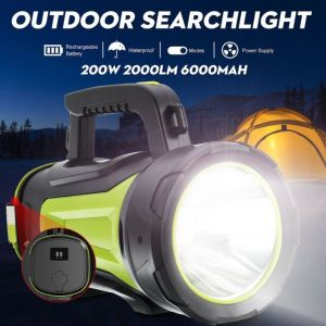Φακος σφραγισμενος  2000lm 1000m Super Bright Work Light LED Spotlight Hunting Emergency Flashlight