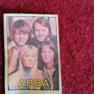 """Συλλεκτικό Αυτοκόλλητο των """"ABBA""""  του 1977"""
