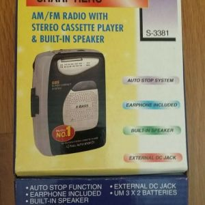 WALKMAN SHARP HERO S-3381 FM/AM RADIO STEREO WITH CASSETE PLAYER
