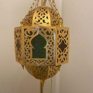 Μπρούτζινο φωτιστικό φανάρι από Μαρόκο