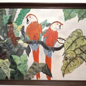 Πίνακας με παπαγάλους.