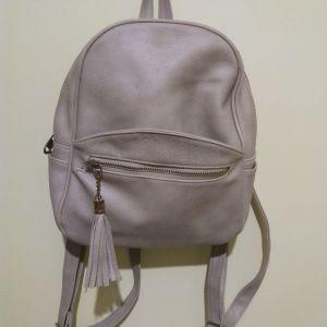 Μπεζ τσάντα πλάτης