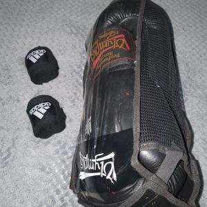 Γάντια μπόξ Olympus/ Μπαντάζ adidas