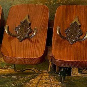 Κρεμάστρα Τοίχου Ξύλο Μασίφ Vintage