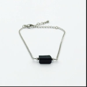 black tourmaline bracelet  μαύρη τουρμαλινι βραχιόλι