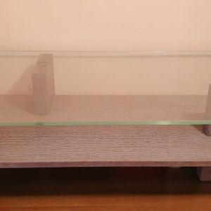 Τραπεζάκι σαλονιού από γυαλί και ξύλο (BALTON)
