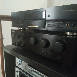 HI FI   stereo  ΕΝΙΣΧΥΤΗΣ ΚΑΙ CD PLAYER  ΜΑΡΚΑΣ  PIONEER