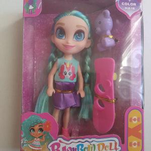 Κούκλα με χρωματιστά μαλλιά