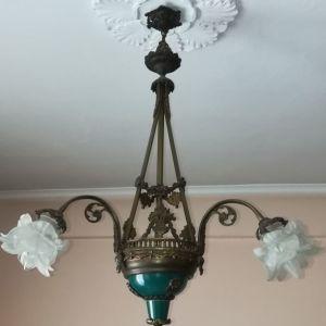 Φωτιστικό οροφής κεραμικό και φυσητό γυαλί
