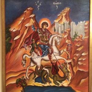 Χειροποίητη βυζαντινή εικόνα, διαστάσεις 60*70