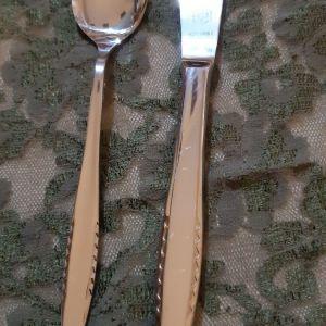 12 κουταλακια+12 μαχαιρια γλυκου/φρουτου ανοξειδωτα καινουργια
