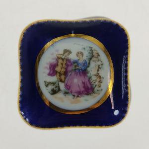 Vintage μπλε πορσελάνινο κουτάκι (Α541)