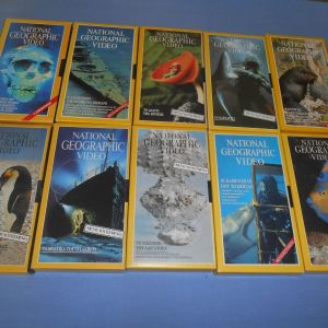 NATIONAL GEOGRAPHIC 10 VHS Z5