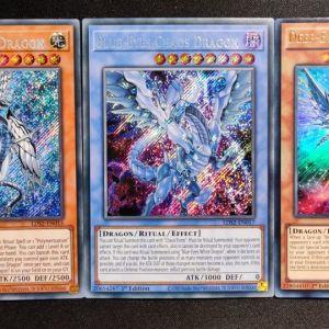 Blue-Eyes Chaos Dragon + Deep-Eyes White Dragon + Blue-Eyes Abyss Dragon