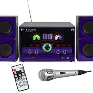 Majestic AUDIOLA Ah 2340 K 2.1 HI-FI Μικρό Στερεοφωνικό Σύστημα Karaoke με Μικρόφωνο USB / SD / AUX - REMOTE - ΜΩΒ,ήχου 35 watt