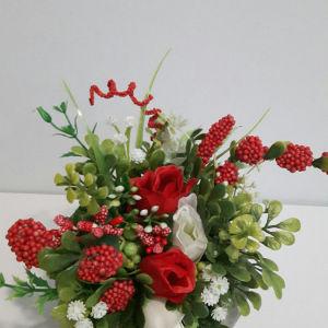 Διακοσμηση -κολοκύθα με λουλουδια