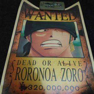 Συλλεκτικη Αφισα One Piece Wanted Dead Or Alive Roronoa Zoro