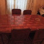 Τραπεζαρία μασιφ με 7 καρεκλες