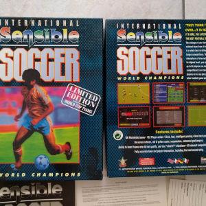 Amiga game International Sensible Soccer Limited Edition + poster