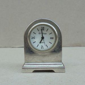"""Ρολόι μικρό, επινικελωμένο, γαλλικό, μάρκα """"LeTemps"""", περίπου 60 ετών."""