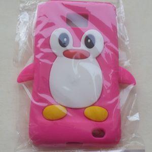 Penguin σιλικόνης μαλακή θήκη κάλυψης για το Samsung Galaxy S2 i9100