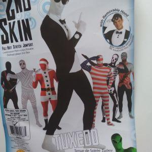 Αποκριάτικη στολή 2nd Skin Tuxedo για ενήλικες σε άριστη κατάσταση