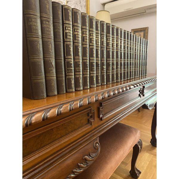 i megali amerikaniki egkiklopedia. ekdosi 1963. 20 tomi+3 tomi ellas. dermatodeto. timi 145 efro.