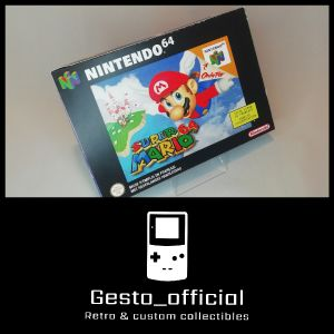 Super Mario 64 Nintendo 64 custom box