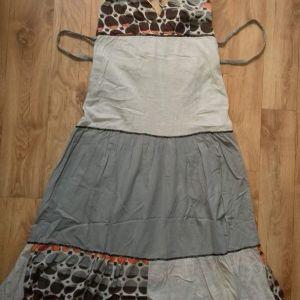 επώνυμο βαμβακερό φόρεμα με φόδρα L/xL