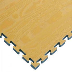 Στρώμα Τατάμι Παζλ Αφρολέξ ΞΥΛΙΝΟ Προφίλ / Μαύρο 100x100x2.5cm