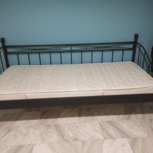 κρεβάτι επισκέπτη με στρώμα διαστάσεις στρώματος 0.90*2.00