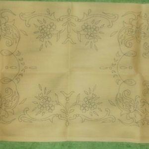 Τυπωμένος καμβάς σεμέν με δύο πετσετάκια για κέντημα
