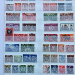 Συλλογη διαφορετικων γραμματοσημων Αγγλιας