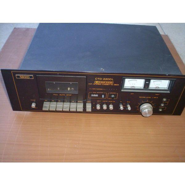 kassetofono nikko - CROWN iaponias ii-FI stereofoniko ME DOLBY SYSTEM