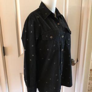 πουκαμισο τζην CURRENT ELLIOTT Washed Black Denim