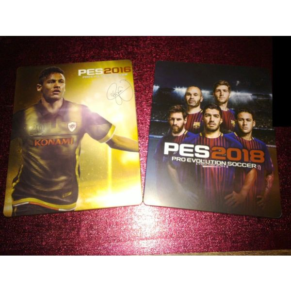 Pro Evolution Soccer 2018 & Pro 2016 pechnidia & Steelbooks (PS4)