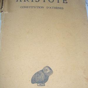 ARISTOTE CONSTITUTION D' ATHENES