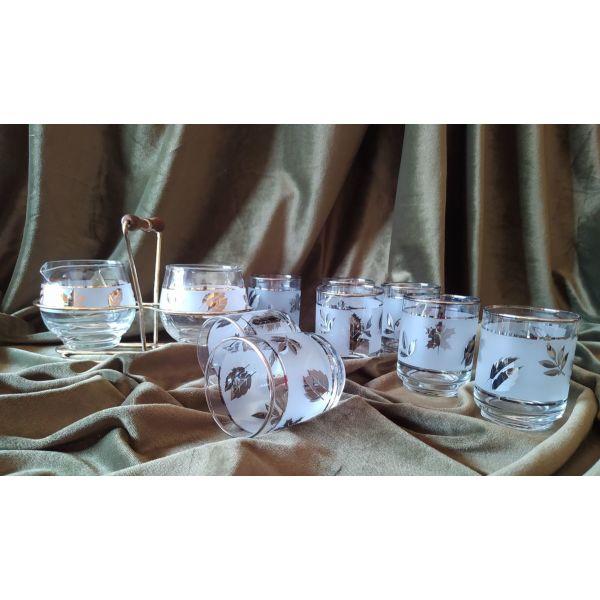 Old-Fashioned Vintage Libbey Starlite : 8  potiria, zachariera & galatiera se vasi me cherouli