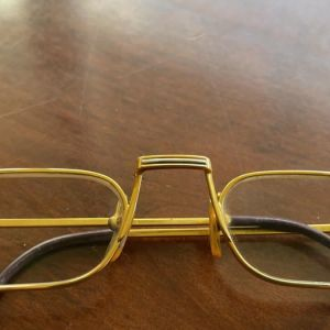 cartier must louis oval 22 καράτια vintage γυαλιά