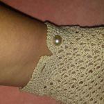 Vintage νυφικά χειροποίητα γάντια βελονάκι με μαργαριτάρια