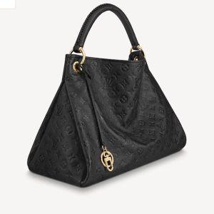 Louis Vuitton black leather