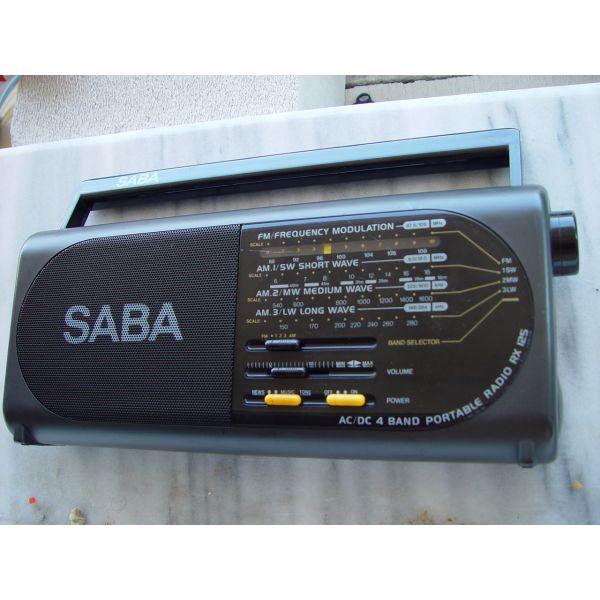 radio SABA RX-125 FM. MW. SW.